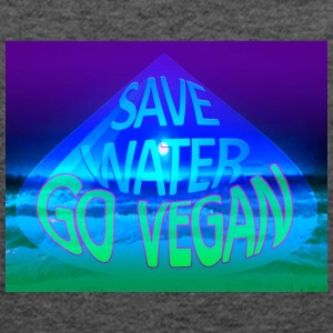 Save water go vegan - Women's Flowy Tank Top by Bella