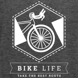 Bike Life - Take the best route - Women's Flowy Tank Top by Bella