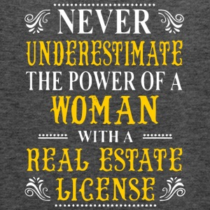 A Woman With A Real Estate License T Shirt - Women's Flowy Tank Top by Bella
