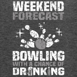 Bowling With A Chance Of Drinking T Shirt - Women's Flowy Tank Top by Bella