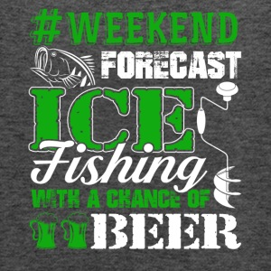 Ice Fishing Weekend Forecast Tee Shirt - Women's Flowy Tank Top by Bella