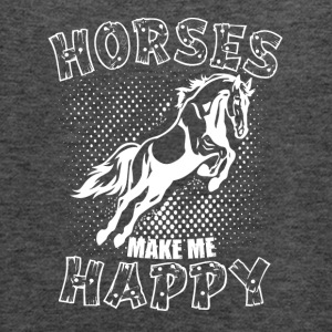 HORSES MAKE ME HAPPY - Women's Flowy Tank Top by Bella