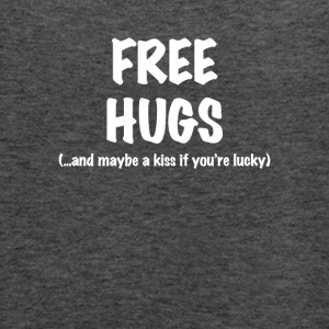 Free Hugs Short Sleeve T-Shirt in Black - Women's Flowy Tank Top by Bella