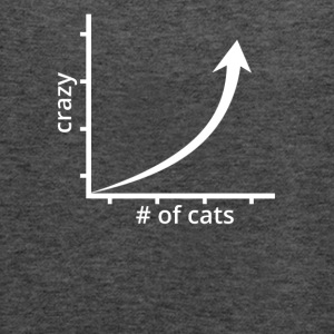 Number of Cats vs Crazy! - Women's Flowy Tank Top by Bella