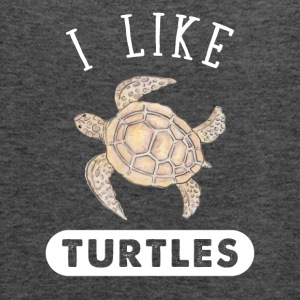 I like turtles - Women's Flowy Tank Top by Bella