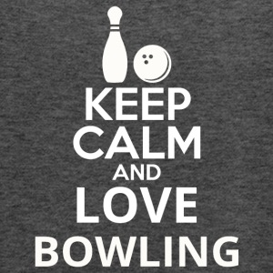 Keep Calm And Love Bowling - Women's Flowy Tank Top by Bella