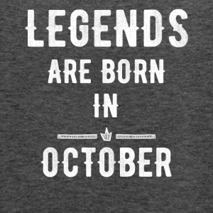Legends are born in october - Women's Flowy Tank Top by Bella