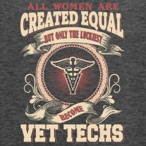 The Luckiest Women Become Vet Techs - Women's Flowy Tank Top by Bella