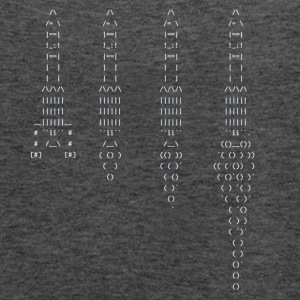 ASCII rocket - Women's Flowy Tank Top by Bella