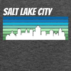 Retro Salt Lake City Skyline - Women's Flowy Tank Top by Bella