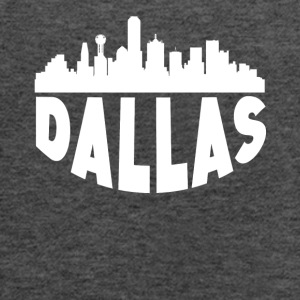 Dallas TX Cityscape Skyline - Women's Flowy Tank Top by Bella