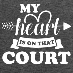 My heart is on that court - Women's Flowy Tank Top by Bella