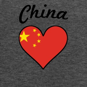 China Flag Heart - Women's Flowy Tank Top by Bella