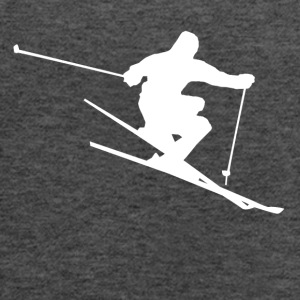 Skier Silhouette Skiing - Women's Flowy Tank Top by Bella