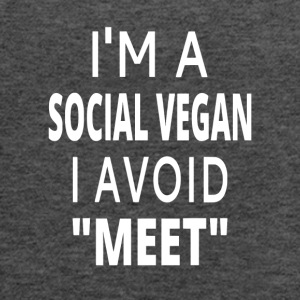 I'm A Social Vegan - Women's Flowy Tank Top by Bella