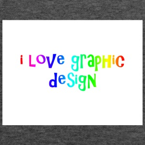 i love graphic design - Women's Flowy Tank Top by Bella