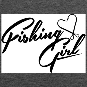 fishing girl - Women's Flowy Tank Top by Bella