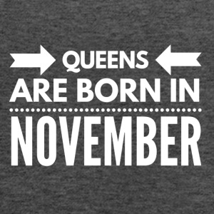 Queens Born November - Women's Flowy Tank Top by Bella