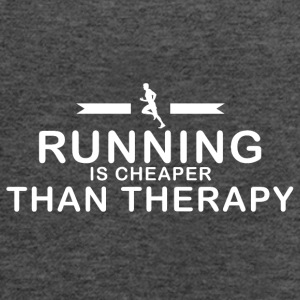 Running is cheaper than therapy - Women's Flowy Tank Top by Bella