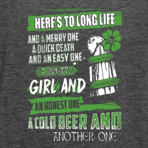 Saint Patrick s Day Irish Cold Beer Shirt - Women's Flowy Tank Top by Bella