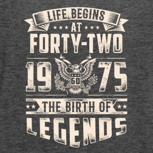 Life Begins At Forty Two Tshirt - Women's Flowy Tank Top by Bella