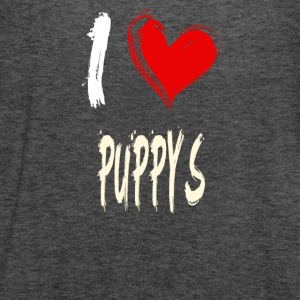 I love PUPPYS - Women's Flowy Tank Top by Bella