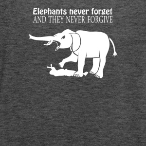ELEPHANTS NEVER FORGET - Women's Flowy Tank Top by Bella