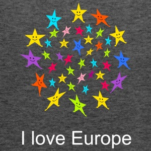 I love Europe Tshirt - Women's Flowy Tank Top by Bella