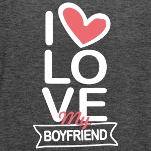 I love my Boyfriend - Women's Flowy Tank Top by Bella