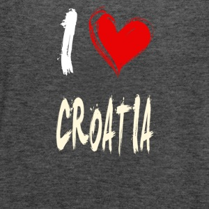 I love CROATIA - Women's Flowy Tank Top by Bella