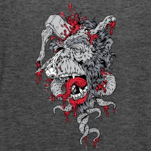zombie ape with axe on head - Women's Flowy Tank Top by Bella