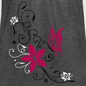 Flowers with filigree ornament and butterfly - Women's Flowy Tank Top by Bella