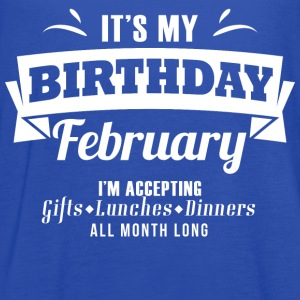 It's my Birthday February I accept anthing - Women's Flowy Tank Top by Bella