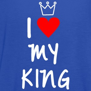 I love my King - Women's Flowy Tank Top by Bella