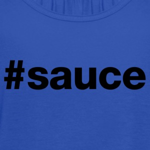 Sauce - Hashtag Design (Black Letters) - Women's Flowy Tank Top by Bella