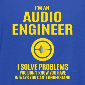 Audio Engineer Solve Problems Design Shirt - Women's Flowy Tank Top by Bella