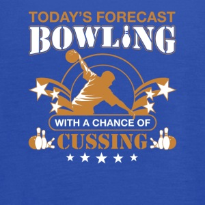 Today's forecast BOWLING with a chance of cussing - Women's Flowy Tank Top by Bella