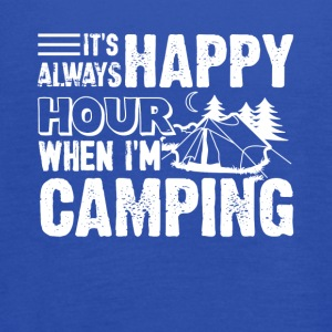 Camping Happy Hour Shirt - Women's Flowy Tank Top by Bella