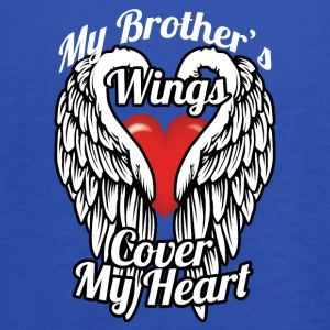 My brother's wings cover my heart - Women's Flowy Tank Top by Bella
