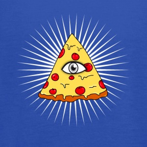 illuminati pizza All Seeing eye food Pyramide illu - Women's Flowy Tank Top by Bella