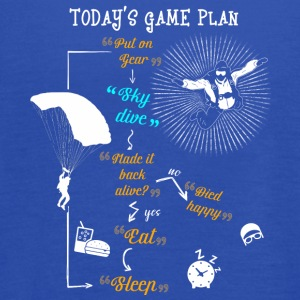 Today's Game Plan Sky Dive T Shirt - Women's Flowy Tank Top by Bella