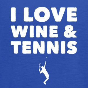 I love wine and tennis - Women's Flowy Tank Top by Bella