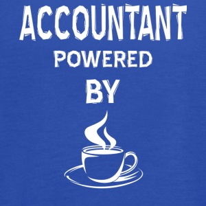 Accountant Powered By Coffee T Shirt - Women's Flowy Tank Top by Bella