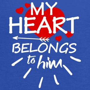 My heart belongs to him - Women's Flowy Tank Top by Bella