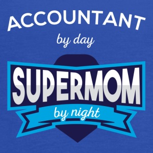 Accountant by day supermom by night - Women's Flowy Tank Top by Bella