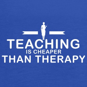 Teaching is cheaper than therapy - Women's Flowy Tank Top by Bella
