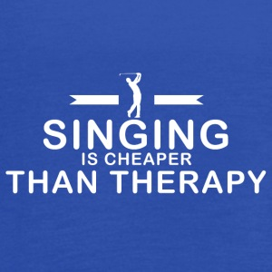 Singing is cheaper than therapy - Women's Flowy Tank Top by Bella