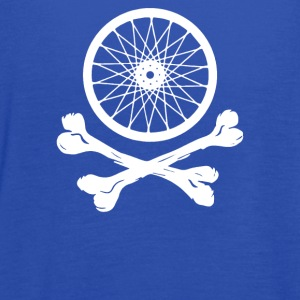 Bicycle Wheel Cross Bones - Women's Flowy Tank Top by Bella