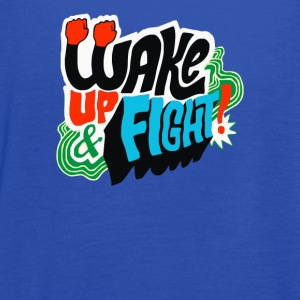 Wake Up and Fight - Women's Flowy Tank Top by Bella