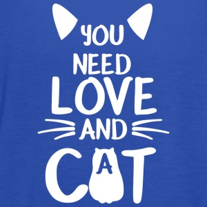 Sweet Cat shirt - You need love and a Cat - Women's Flowy Tank Top by Bella